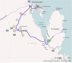 Doha Map Doha Bahrain Map
