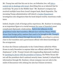 What Is An In Law House New York Times Report Exposes Jared Kushner U0027s Conflicts Of Interest