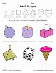 geometric solid shapes worksheet education com
