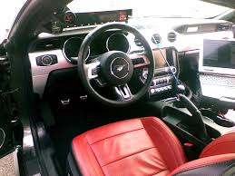 mustang gt 2015 interior some looks at line leather interior 2015 mustang forum
