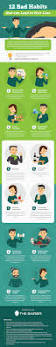 12 bad habits that can lead to hair loss infographic