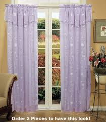 amazon com daisy embroidered floral window curtain panel 50x84
