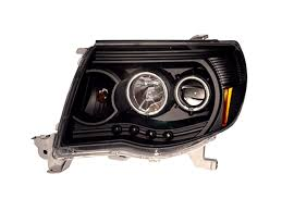 black headlight set led projector with halo ccfl for 2005 2011