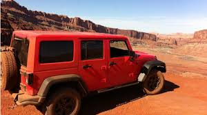 driving a jeep wrangler driving the jeep wrangler moab in its element autoweek