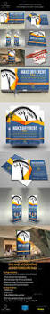 tax and accounting advertising bundle psd templates billboard