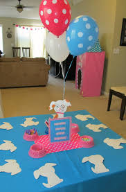baby shower puppy theme puppy themed birthday party pink bash