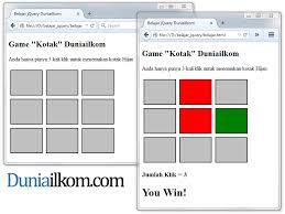 membuat web sederhana dengan javascript belajar cara membuat game web dengan jquery duniailkom