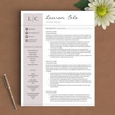 Bd Jobs Resume Format by Creative Resume Template The Lauren Cole U2013 Landed Design Solutions
