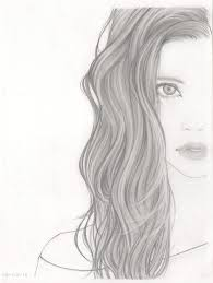 hair drawing with curly hair drawing