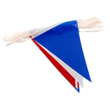 Poly Flag Red White U0026 Blue Pennant Flags