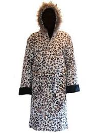 robe de chambre leopard imprimé léopard parka en polaire à capuche peignoir peignoir ebay