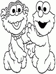 sesame street elmo coloring pages coloring
