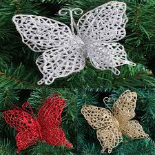 Red Butterfly Christmas Tree Decorations by Online Get Cheap Butterfly Tree Ornaments Aliexpress Com