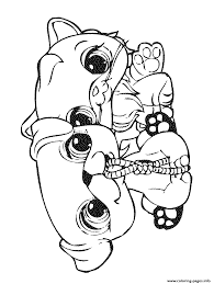littlest pet shop 4 coloring pages printable