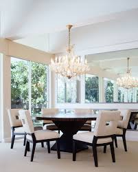 Modern Round Dining Table Wood Round Chandelier Dining Room Editonline Us