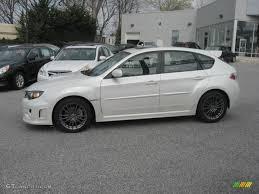 white subaru hatchback satin white pearl 2011 subaru impreza wrx limited wagon exterior