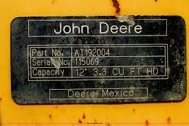 john deere 310 backhoe bucket item f5285 sold october 3