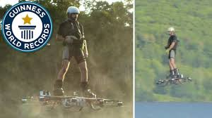 lexus un hoverboard video canadian inventor breaks record for longest hoverboard