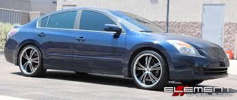 stanced nissan altima nissan altima custom wheels elementwheels com