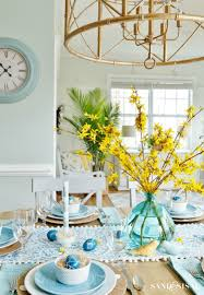 Aqua Dining Room Aqua And Yellow Coastal Easter Tablescape Sand And Sisal