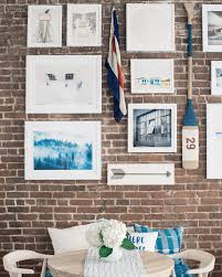 Exposed Brick Wall by How To Hang A Gallery Wall On Exposed Brick Walls Bright Bazaar