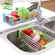 Kitchen Sink Dish Rack 2018 Telescopic Kitchen Sink Dish Rack Insert Countertop Storage