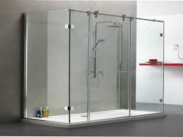 Seamless Glass Shower Door Sliding Bypass Shower Doors Frameless Glass Cost Impressive Photos