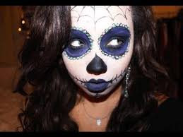 day of the dead halloween tutorial youtube all hallows eve