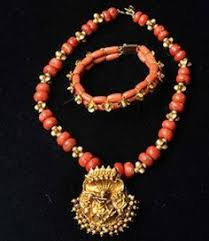 22k gold coral mala necklace designs bead necklaces and traditional