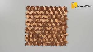 aluminum mosaic tile copper cubes 200ker1950 youtube