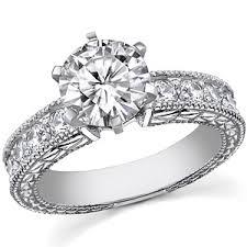 engagement ring setting brilliant antique moissanite engagement ring setting 0 6ct
