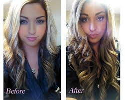 Color Hair Extension by Hotheads Hair Extensions And Color Before And After By Jen