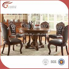 classic italian dining room sets with leather dining chair a79