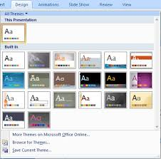 change the default template or theme in powerpoint 2007