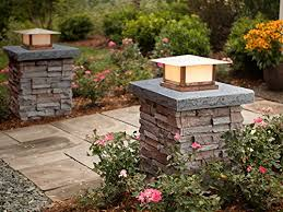 installing landscape lighting faux stone column wraps with easy install kit pole wrap post