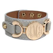 monogrammed cuff bracelet monogrammed leather cuff bracelet be monogrammed