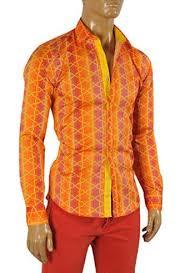 designer clothes versace men u0027s dress shirt in orange 154