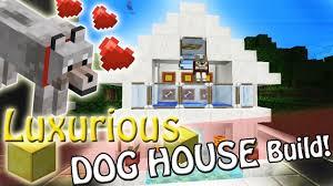 minecraft luxury dog house design sss build youtube