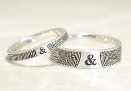fingerprint wedding bands brent jess fingerprint wedding rings a practical wedding a
