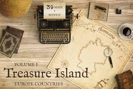 Treasure Island Map Treasure Island Europe Pirate Maps Illustrations Creative Market