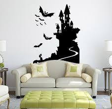 cool halloween home decoration witch bat wall sticker halloween