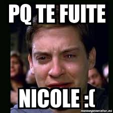 Meme Nicole - meme crying peter parker pq te fuite nicole 2669723