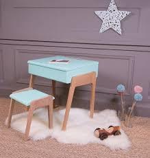 bureau pupitre enfant pupitre bois peint bleu vintage bureau chambre enfant sol coco