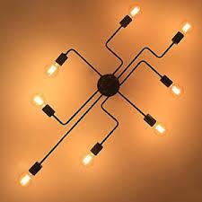 industrial flush mount light industrial flush mount ceiling light vintage 8 socket chandelier