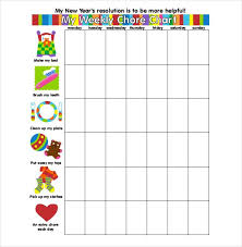 weekly chore chart template 31 free word excel pdf format