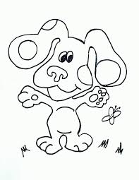 blue clues coloring pages print coloring