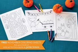 3 adorable fall coloring sheets kids activities