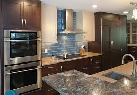 blue glass kitchen backsplash blue glass tile backsplash kitchen with coastal kitchen ct