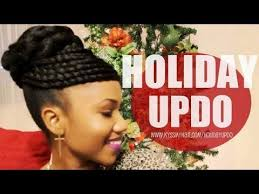 twisted bun hairstyle on african american twisted bun holiday updo on natural hair youtube