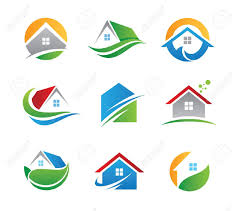 home logo icon eco house icon royalty free cliparts vectors and stock